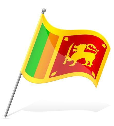 vlag van Sri Lanka vectorillustratie vector
