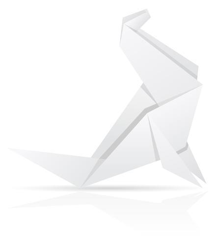 origami papper havet kalv vektor illustration