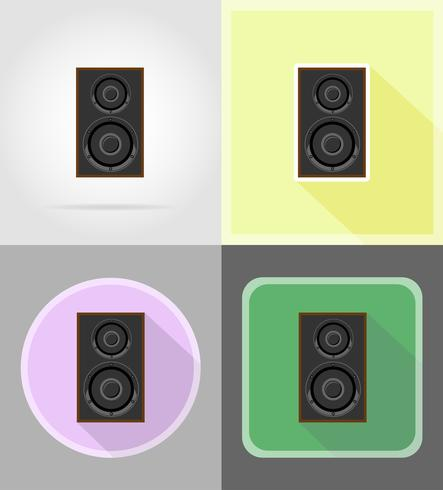 acoustic loundspeaker flat icons vector illustration