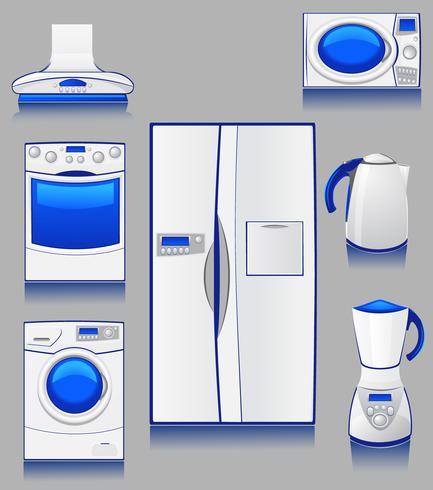 inhemsk teknik för ett kök vektor