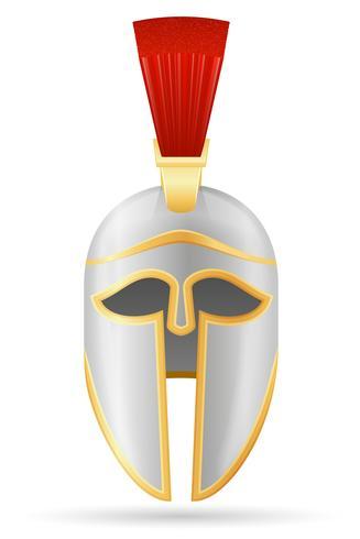 ilustração em vetor estoque medieval capacete de batalha