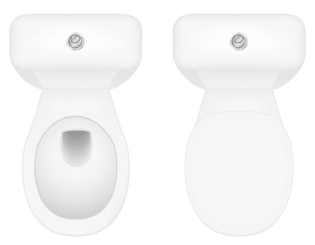 toalett skål vektor illustration