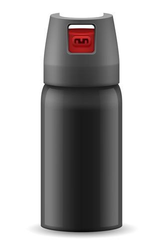 peppar gasspray självförsvar vektor illustration