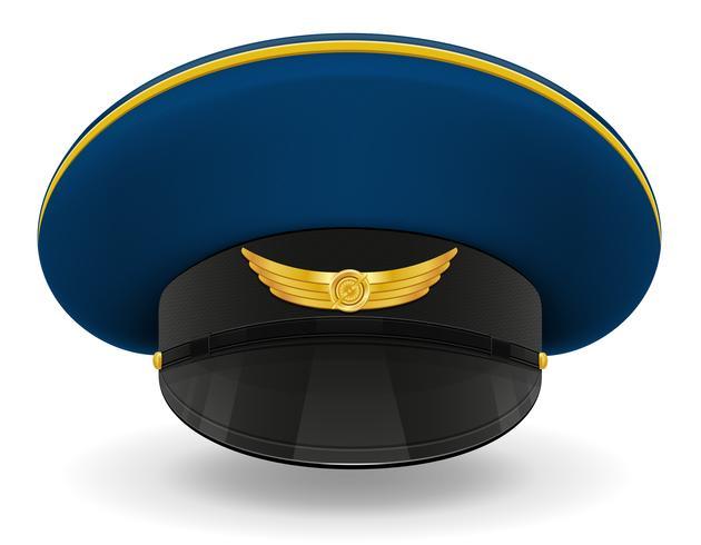 tappo uniforme professionale o illustrazione vettoriale pilota