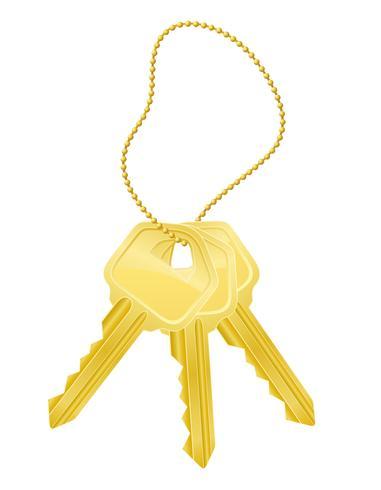 imposta l'illustrazione vettoriale di serratura della porta di chiavi