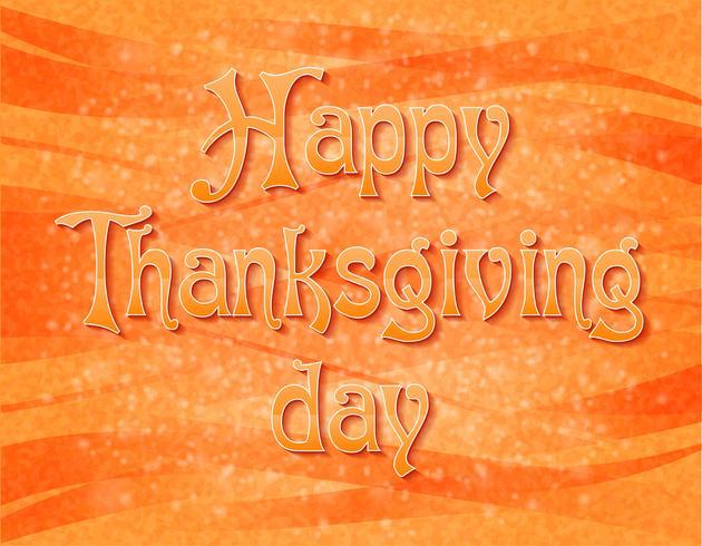 Ilustración de vector de texto feliz día de acción de gracias