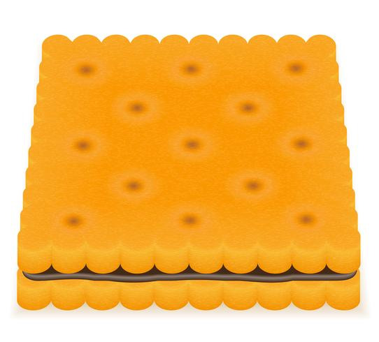 illustration vectorielle biscuit biscuit biscuit