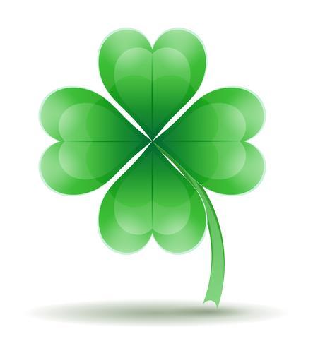 Saint Patrick's Day klaver voorraad vectorillustratie