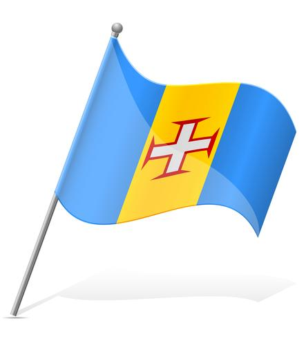 Bandera de Madeira ilustración vectorial