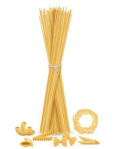 icone di pasta set illustrazione vettoriale