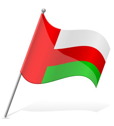 Bandera de ilustración vectorial de Omán vector