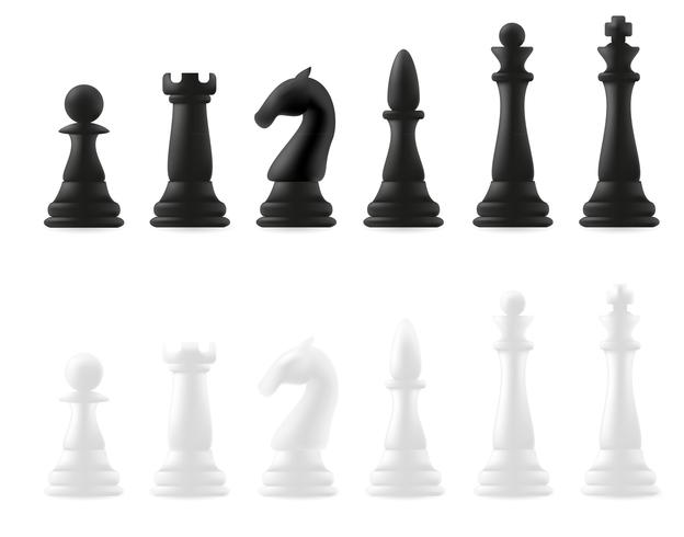 piezas de ajedrez vector illustration