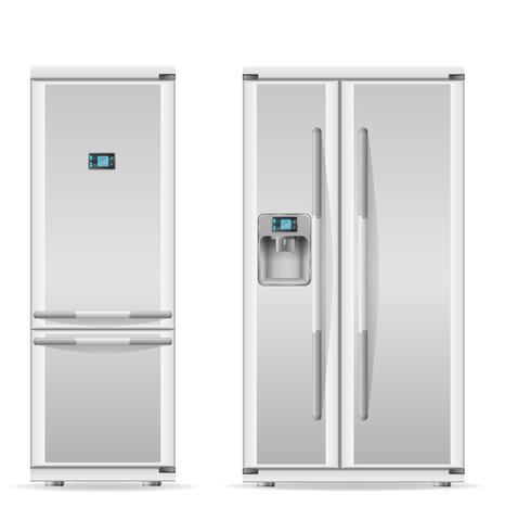 koelkast voor thuisgebruik vectorillustratie