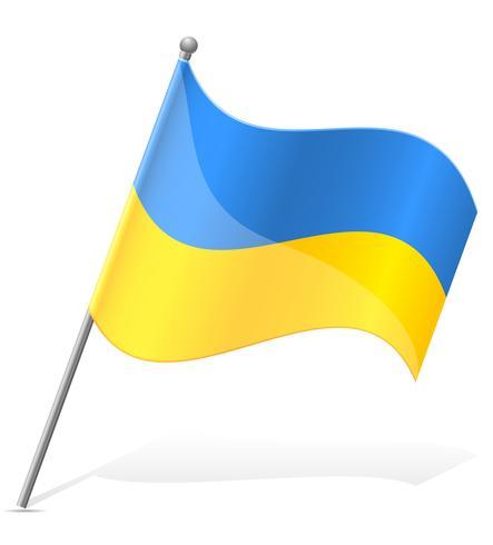 vlag van Oekraïne vector illustratie