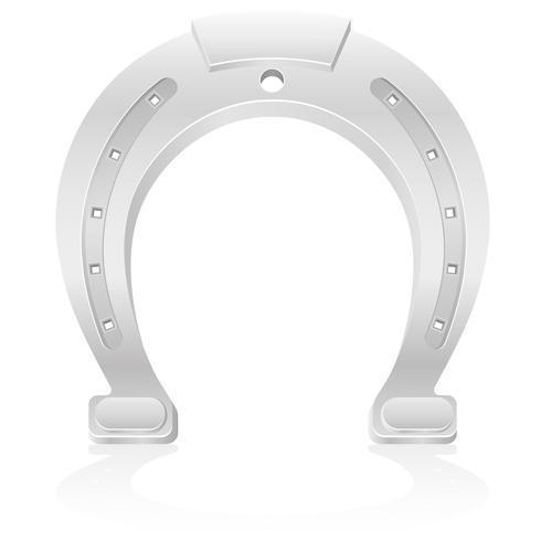 silver hästsko talisman charm vektor illustration