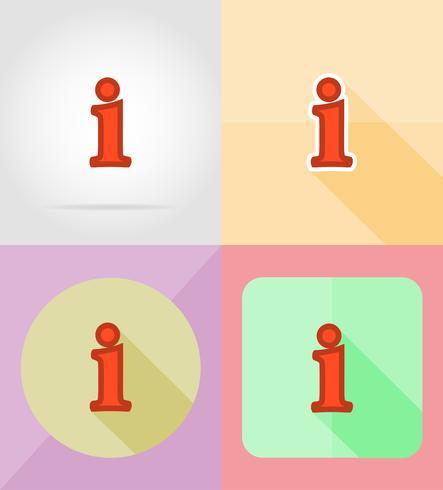 informationsservice platta ikoner vektor illustration