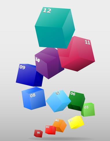 infographics multicolor visuellt surround 3d vektor illustration