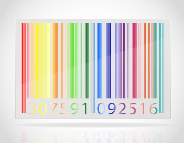 Ilustración de vector de código de barras multicolor