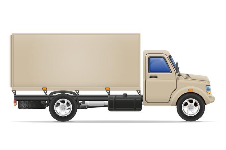 camión de carga para el transporte de mercancías vector illustration