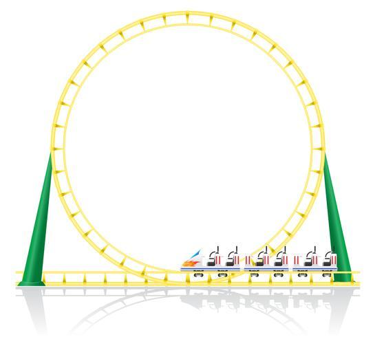 illustration vectorielle de montagnes russes vecteur