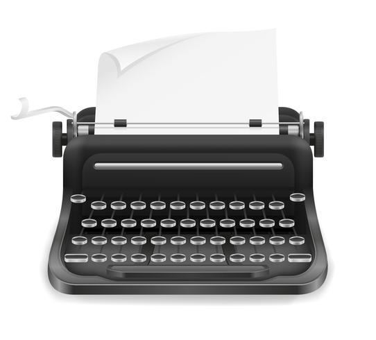 machine à écrire vieux rétro vintage icône illustration vectorielle stock vecteur