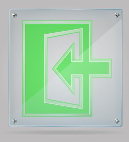 Señal transparente salida en la ilustración de vector de placa