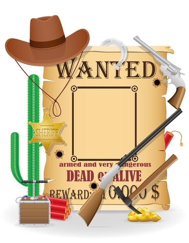 cowboy wild west concept icons vector illustration