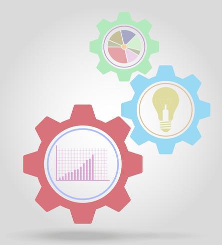 business gear mechanism concept vector illustration