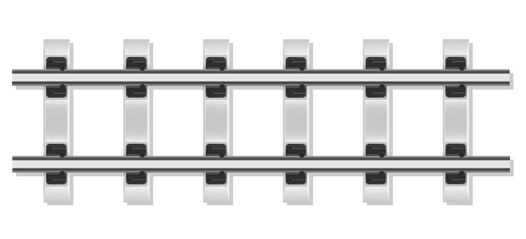 rieles de ferrocarril y durmientes de hormigón vector illustration