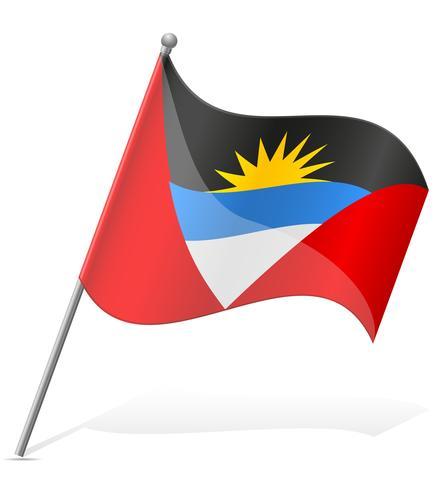flagga av Antigua och Barbuda vektor illustration