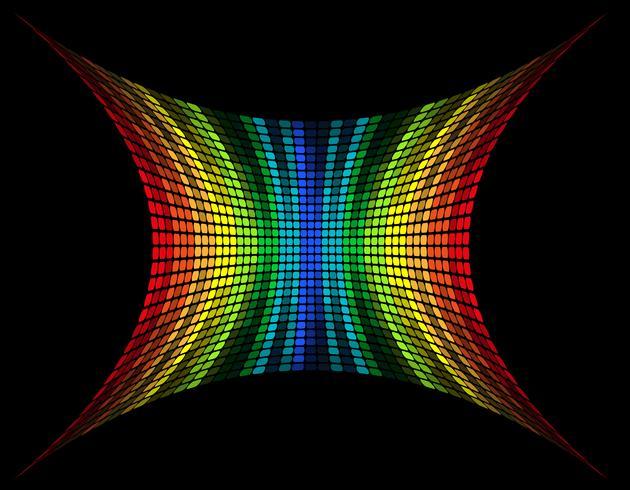 abstrakte mehrfarbige grafische Equalizer-Vektor-Illustration