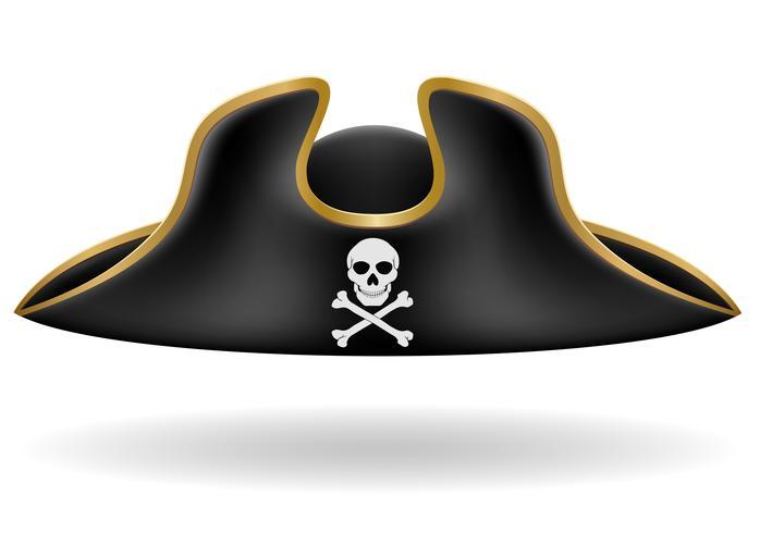 piraat hoed tricorn vectorillustratie