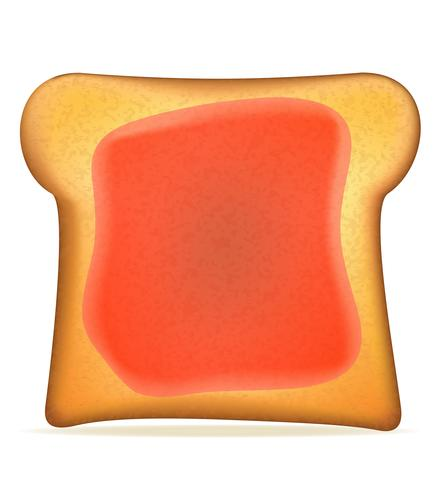 toast with jelly vector illustration
