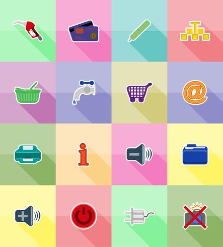 ilustração em vetor ícones plana serviço