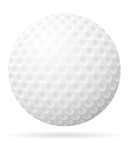 Golfball-Vektor-Illustration