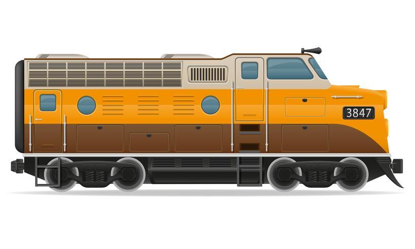 spoorlijn locomotief trein vectorillustratie