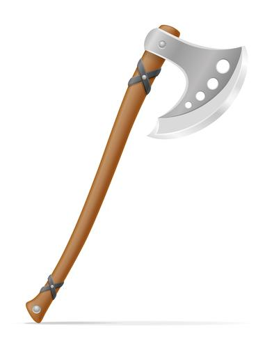 battle axe medieval stock vector illustration
