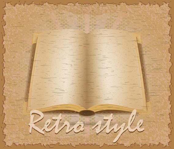 retro-stijl poster oude boek vectorillustratie vector