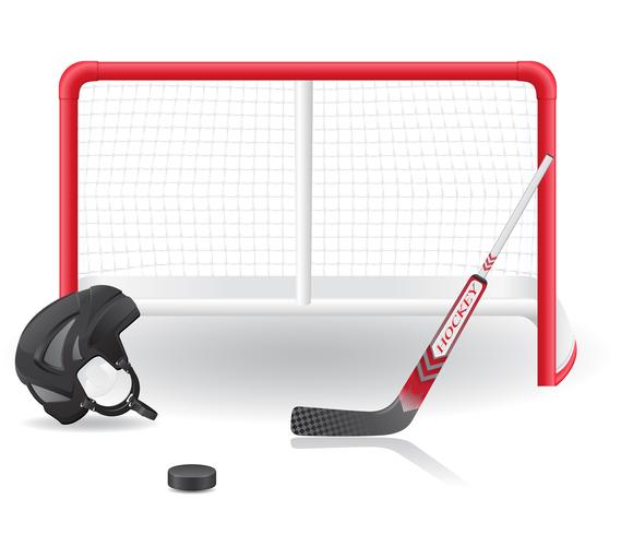 hockey set vector illustration