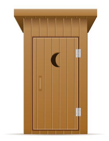 houten buiten toilet vectorillustratie