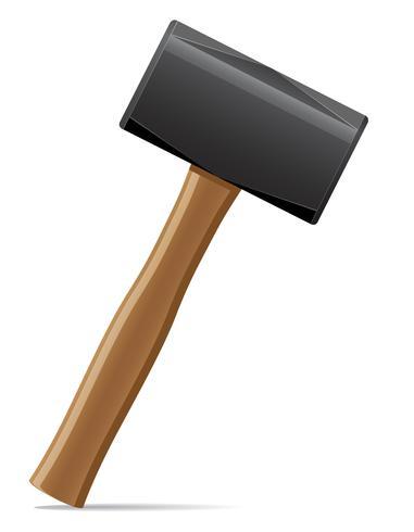 strumento martello con manico in legno illustrazione vettoriale