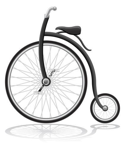 vieja bicicleta retro vector illustration