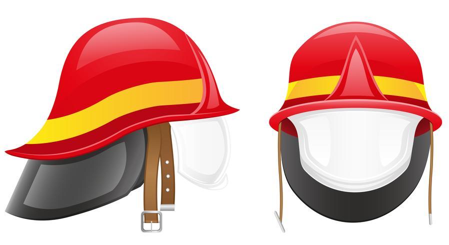 illustration vectorielle de pompier casque