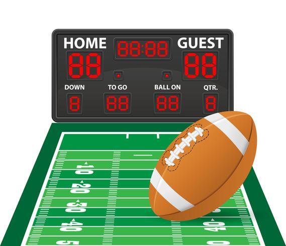 Ilustración de vector de marcador digital de fútbol americano deportes