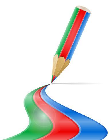 kunst creatief potlood concept vectorillustratie