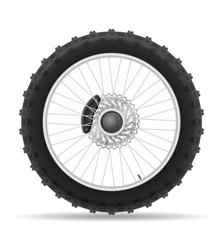 pneu de roue de moto de l'illustration vectorielle de disque