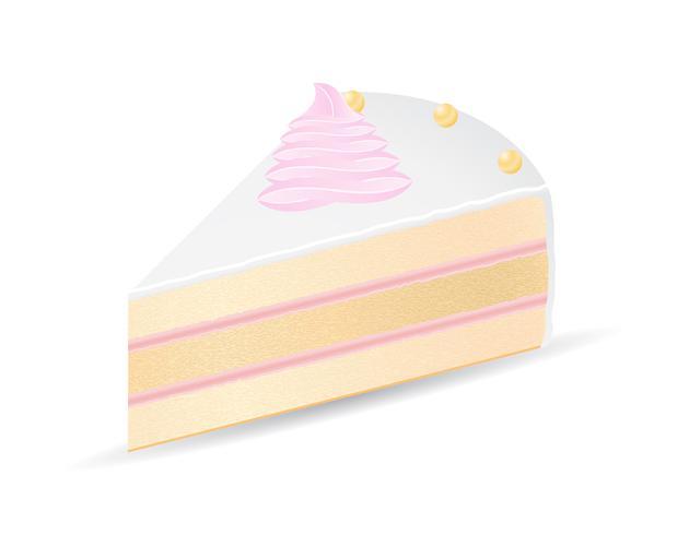 illustration vectorielle de gâteau