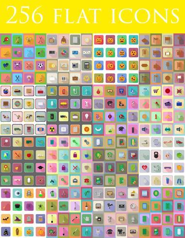 diverso set di icone piane illustrazione vettoriale