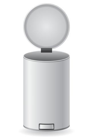 Ilustración de vector de cubo de basura