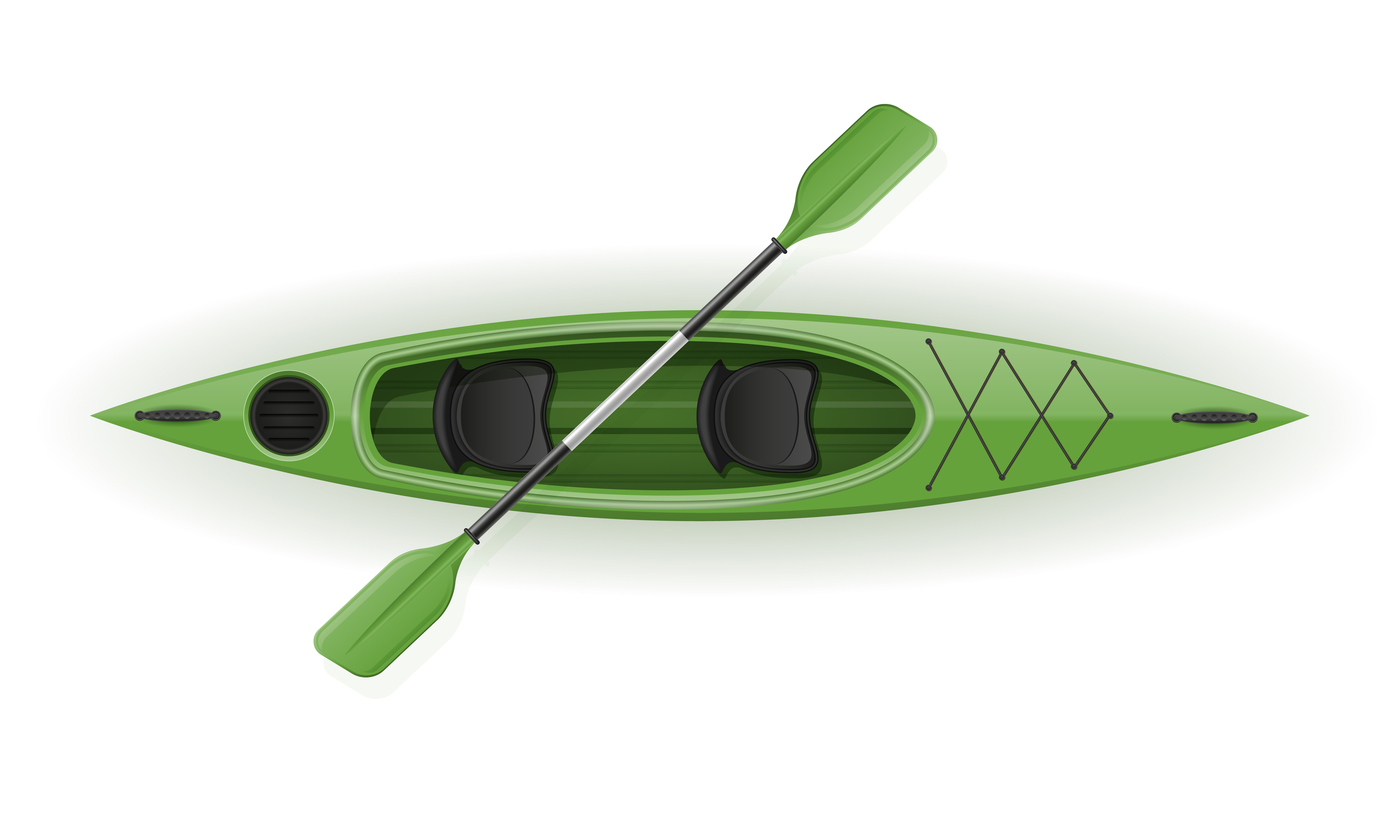 Download plastic kayak for fishing and tourism vector illustration ...